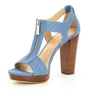 🆕️MICHAEL Michael Kors Berkley Denim Sandals